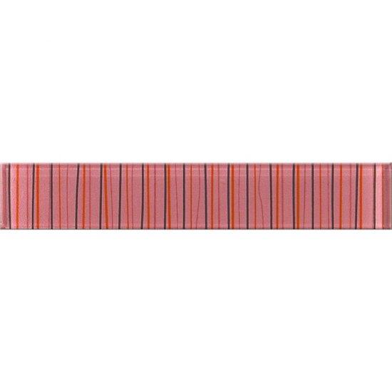 Płytka ścienna LINERO różowa listwa szklana 5x29 gat. I