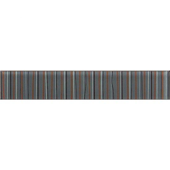 Płytka ścienna LINERO szara listwa szklana 5x29 gat. I