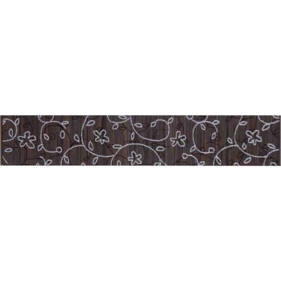 Płytka ścienna ZEBRANO brązowa listwa classic mat 5,4x30 gat. I