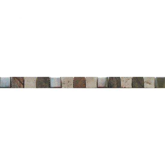 Płytka ścienna VIRGA multikolor listwa mozaika mat 2,8x45 gat. I