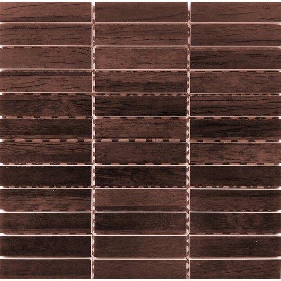 Płytka ścienna CARISMA brązowa mozaika prostokąty mat 30x30 gat. I