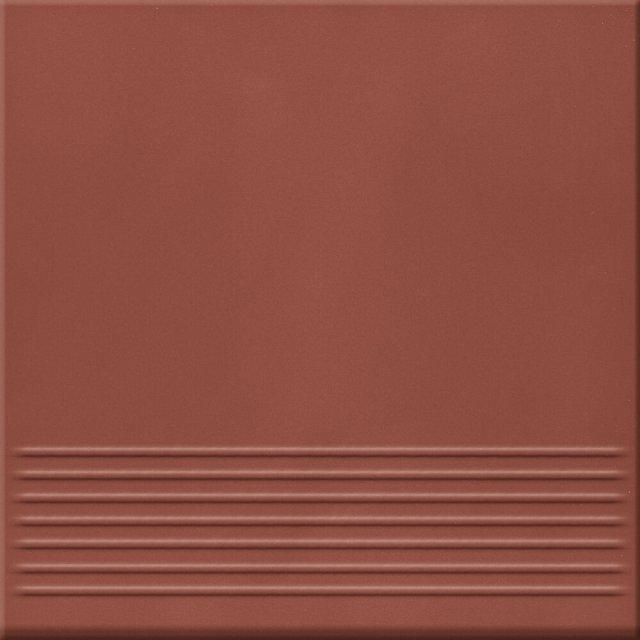 Klinkier LOFT czerwony stopnica mat 30x30 gat. I