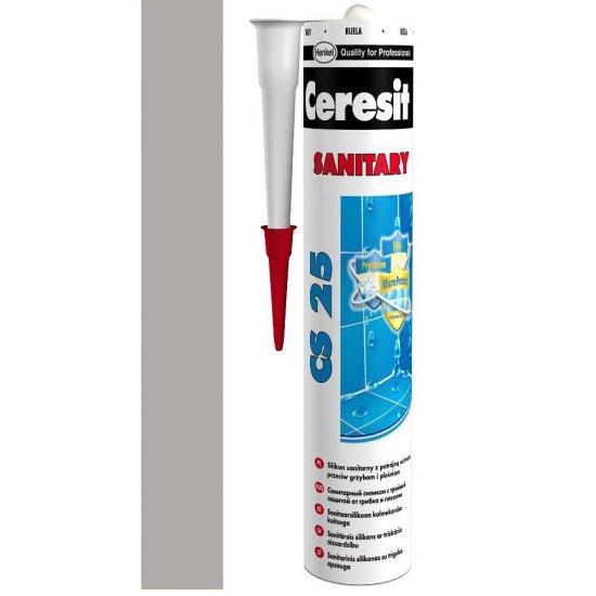 Silikon sanitarny CERESIT CS 25 cementgrey 280 ml