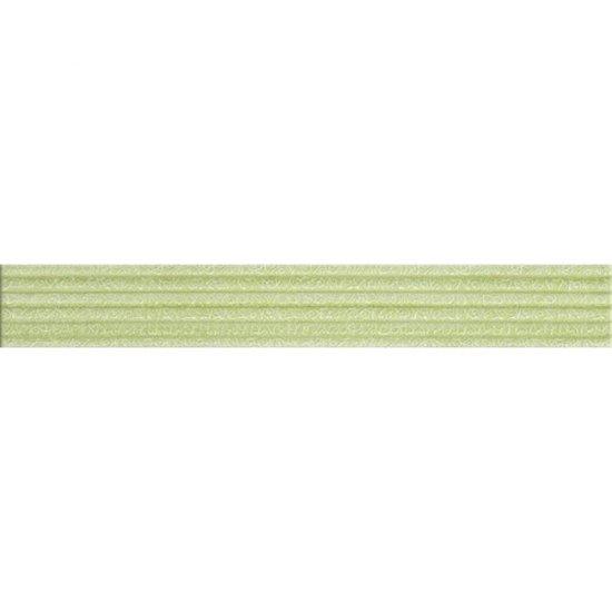 Płytka ścienna ELISA zielona listwa kwiaty błyszcząca 5x35 gat. I