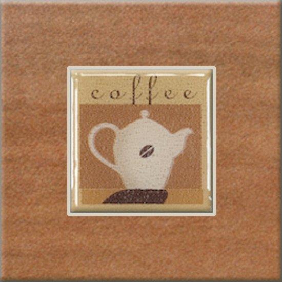 Gres szkliwiony REAL COTTO pomarańczowy inserto coffee 3 mat 10,9x10,9 gat. I