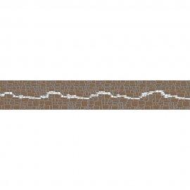 Płytka ścienna POLINESIA szara listwa modern mat 7x45 gat. I
