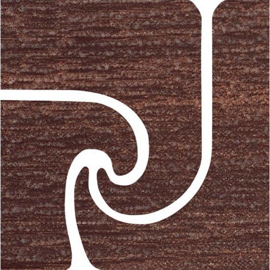 Gres szkliwiony ANCONA brązowy narożnik fala mat 9,6x9,6 gat. I