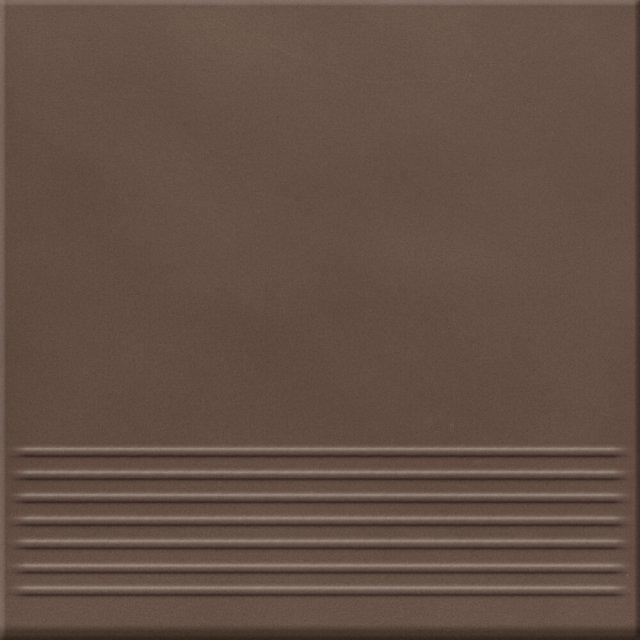 Klinkier LOFT brązowy stopnica mat 30x30 gat. I
