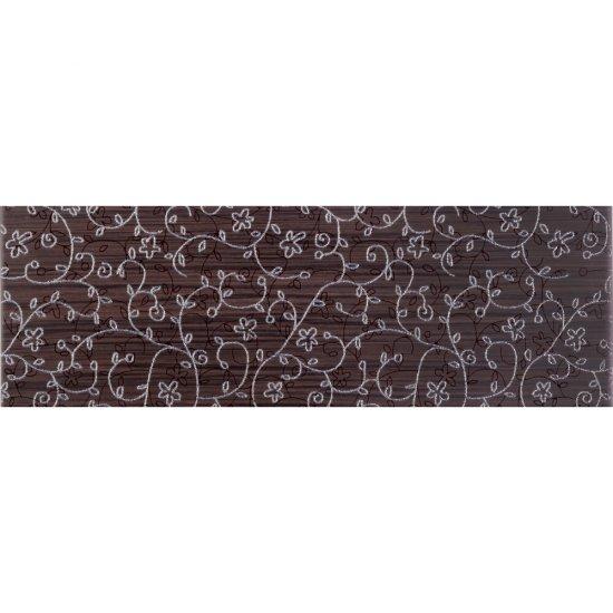 Płytka ścienna ZEBRANO brązowa listwa classic mat 14,9x45 gat. I