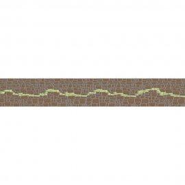 Płytka ścienna POLINESIA zielona listwa modern mat 7x45 gat. I