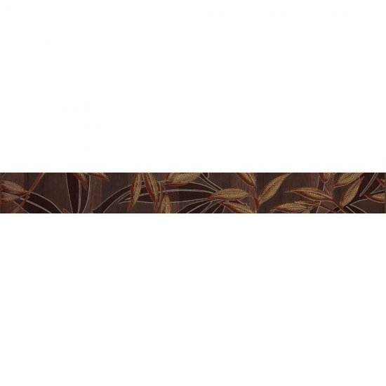 Płytka ścienna CARISMA brązowa listwa gałązka mat 4,8x45 gat. I