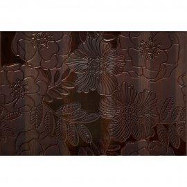 Płytka ścienna CARISMA brązowa inserto kwiaty mat 30x45 gat. I