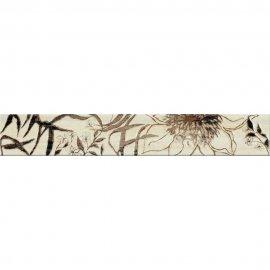 Płytka ścienna ALEKSANDRIA kremowa listwa kwiaty mat 7x45 gat. I