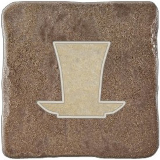 Gres szkliwiony REAL STONE brązowy inserto tea 2 mat 10,9x10,9 gat. I