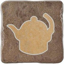 Gres szkliwiony REAL STONE brązowy inserto tea 5 mat 10,9x10,9 gat. I