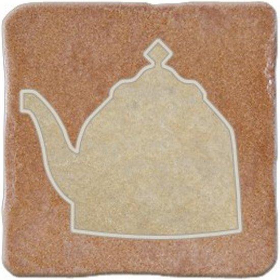 Gres szkliwiony REAL STONE karminowy inserto tea 1 mat 10,9x10,9 gat. I*