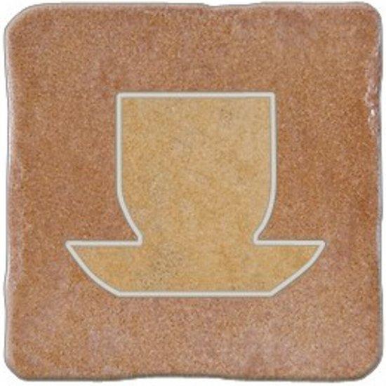 Gres szkliwiony REAL STONE karminowy inserto tea 4 mat 10,9x10,9 gat. I*