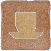 Gres szkliwiony REAL STONE brązowy inserto tea 4 mat 10,9x10,9 gat. I