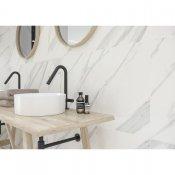 Gres szkliwiony CALACATTA MARBLE biały poler 59,8x59,8 gat. II#