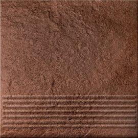 Klinkier SOLAR brązowy stopnica 3-D połysk 30x30 gat. I