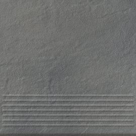 Klinkier SOLAR szary stopnica struktura połysk 30x30 gat. I