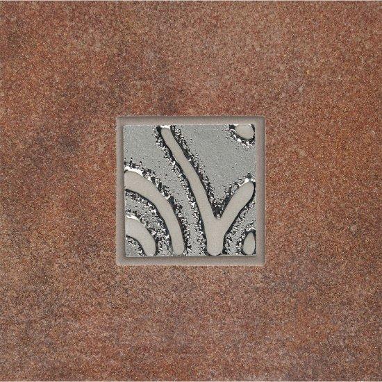 Gres szkliwiony REAL COTTO brązowy techno mat 8,8x8,8 gat. I