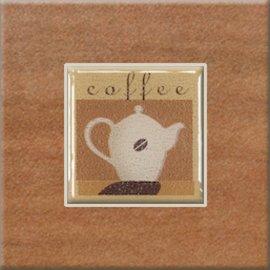 Gres szkliwiony REAL COTTO pomarańczowy inserto coffee 3 10,9x10,9 gat. I