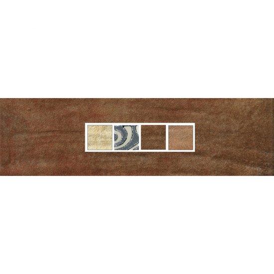 Gres szkliwiony REAL COTTO brązowy listwa techno mat 8,8x29,7 gat. I