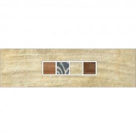 Gres szkliwiony REAL COTTO kremowy listwa techno mat 8,8x29,7 gat. I