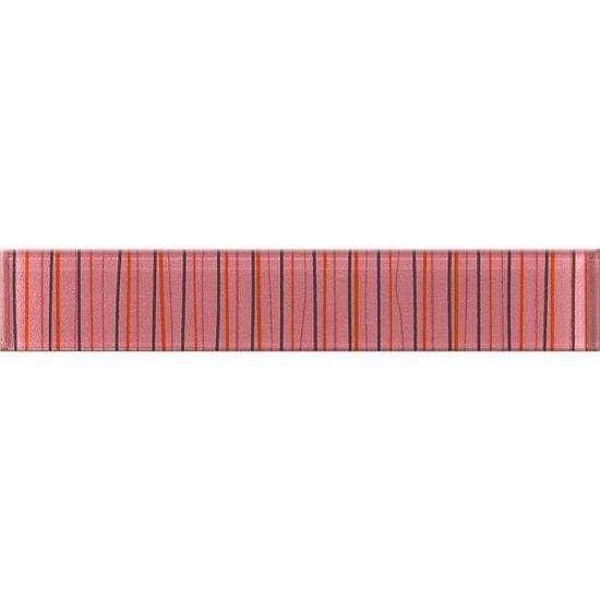 Płytka ścienna LINERO różowa listwa szklana 5x29 gat. I*