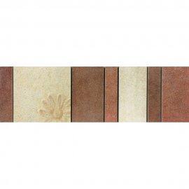 Gres szkliwiony REAL COTTO kremowy listwa mozaika A mat 8,8x29,7 gat. I