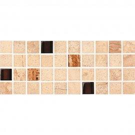 Gres szkliwiony SAHARA beżowy listwa mozaika mat 11,7x29,5 gat. I