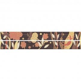 Płytka ścienna SYMFONIA brązowa listwa modern błyszcząca 4,8x45 gat. I