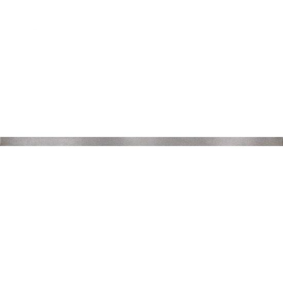Płytka ścienna BIANCA srebrna listwa metal mat 2x60 gat. I