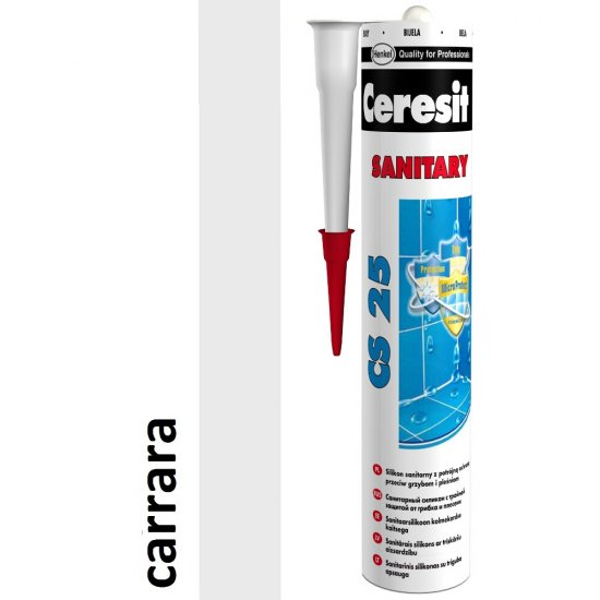 Silikon sanitarny CERESIT CS 25 carrara 280 ml