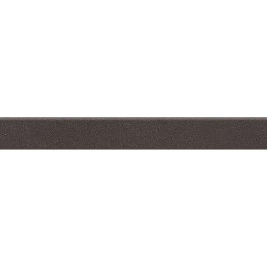 Gres zdobiony MOONDUST czarny cokół mat 7,2x59,4 gat. I*