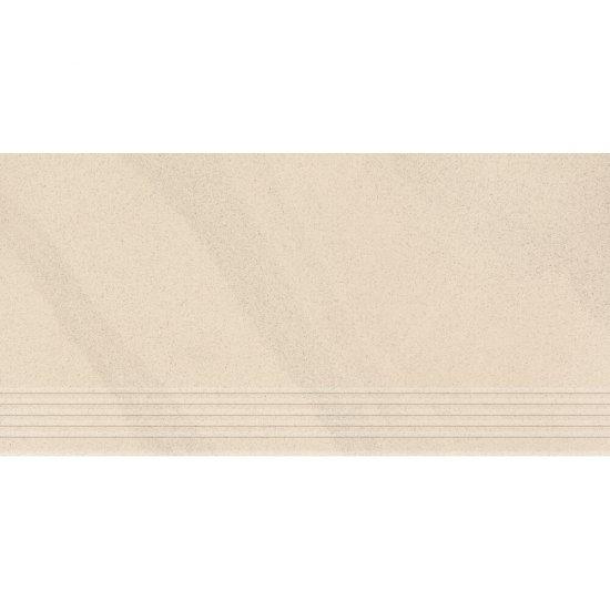 Gres zdobiony KANDO piaskowy stopnica mat 29,55x59,4 gat. I