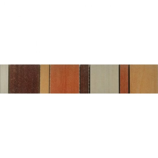 Gres szkliwiony NATURALE beżowy listwa mozaika mat 5,4x29,7 gat. I