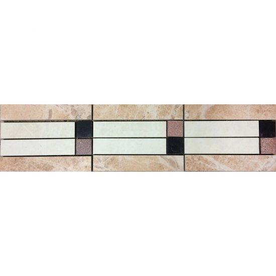 Gres szkliwiony ROYAL kremowy listwa mozaika mat 9,6x39,6 gat. I