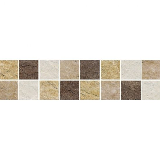 Gres szkliwiony NAXOS beżowy listwa mozaika mat 9,8x39,6 gat. I