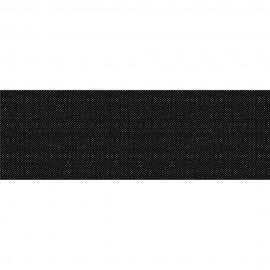 Płytka ścienna PRET A PORTER czarna textile błyszcząca 25x75 gat. II