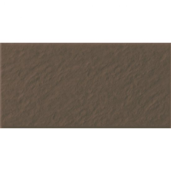 Klinkier SIMPLE BROWN brązowy podstopnica 3-D mat 14,8x30 gat. I*
