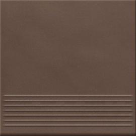 Klinkier LOFT brązowy stopnica mat 30x30 gat. II