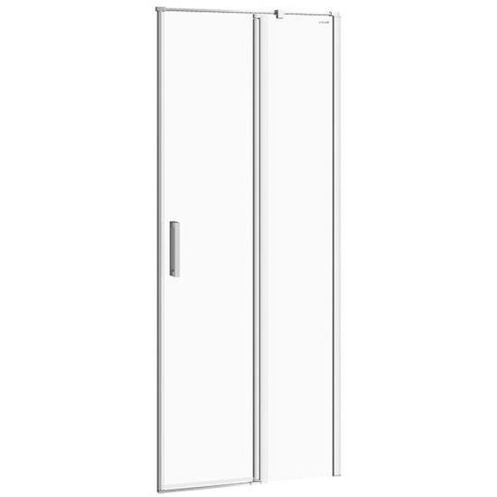 Drzwi na zawiasach kabiny prysznicowej MODUO 80x195 prawe transparentne