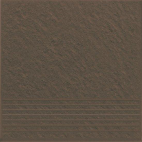 Klinkier SIMPLE BROWN brązowy stopnica 3-D mat 30x30 gat. I*