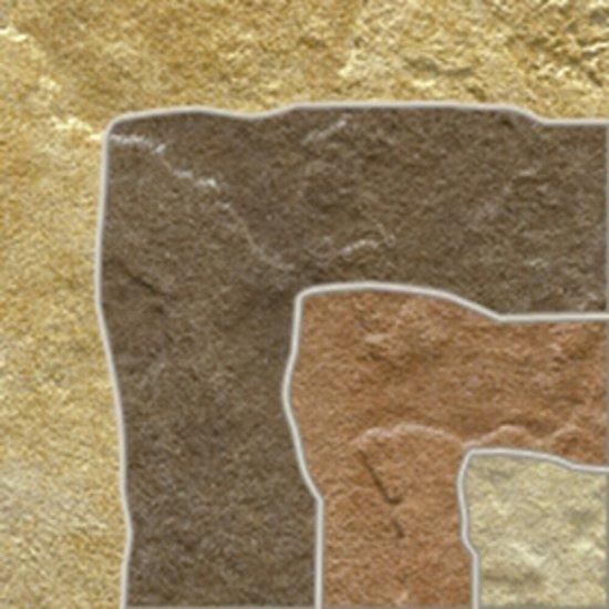 Gres szkliwiony FOSSILE SLATE beżowy narożnik mat 9,8x9,8 gat. I