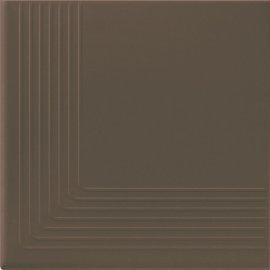 Klinkier SIMPLE BROWN brązowy stopnica narożna mat 30x30 gat. I*