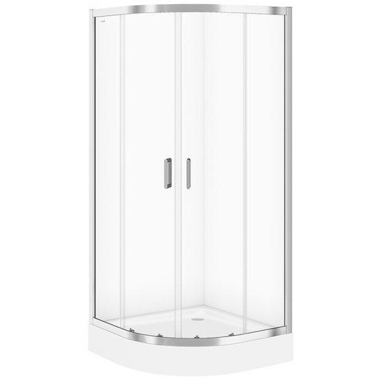 Kabina prysznicowa półokrągła ARTECO 90x90x190 transparentne