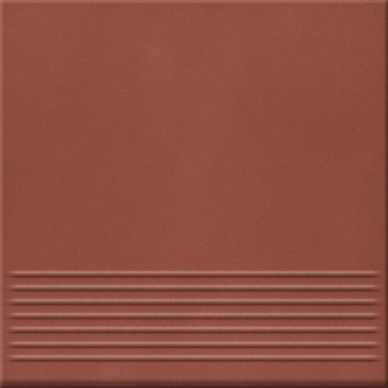 Klinkier LOFT czerwony stopnica mat 30x30 gat. II