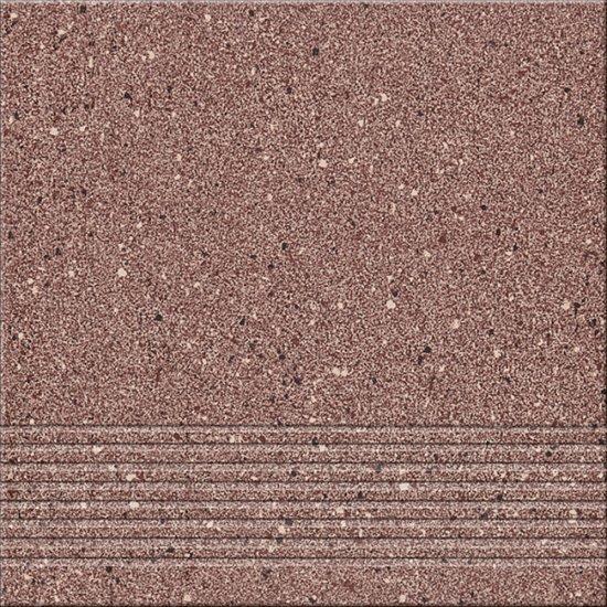 Gres techniczny HYPERION brązowy stopnica h5 mat 29,7x29,7 gat. I